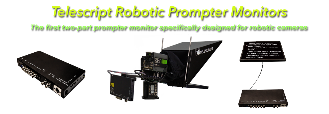 robotic teleprompter monitor
