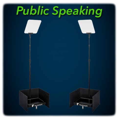 Telescript Public Speaking Teleprompters